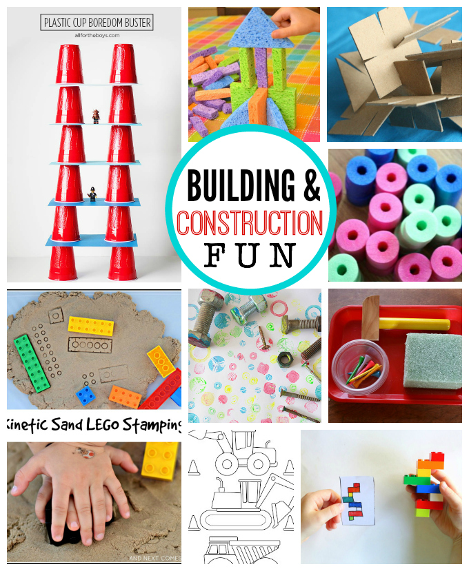 Fun with Building and Construction - Awesome ideas for preschoolers this summer! // One Lovely Life