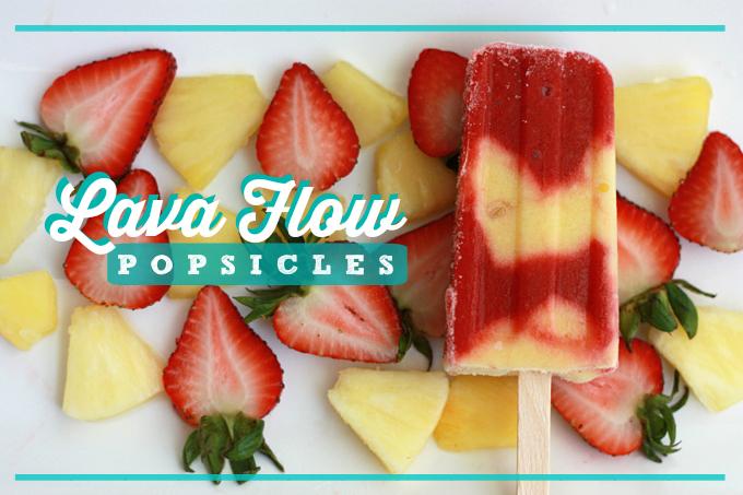 Lava Flow Popsicles (GF, Vegan, Paleo) // One Lovely Life