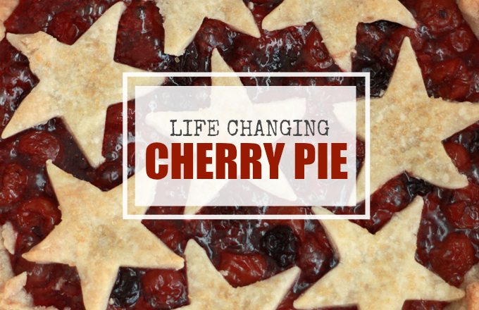The Best Cherry Pie // One Lovely Life