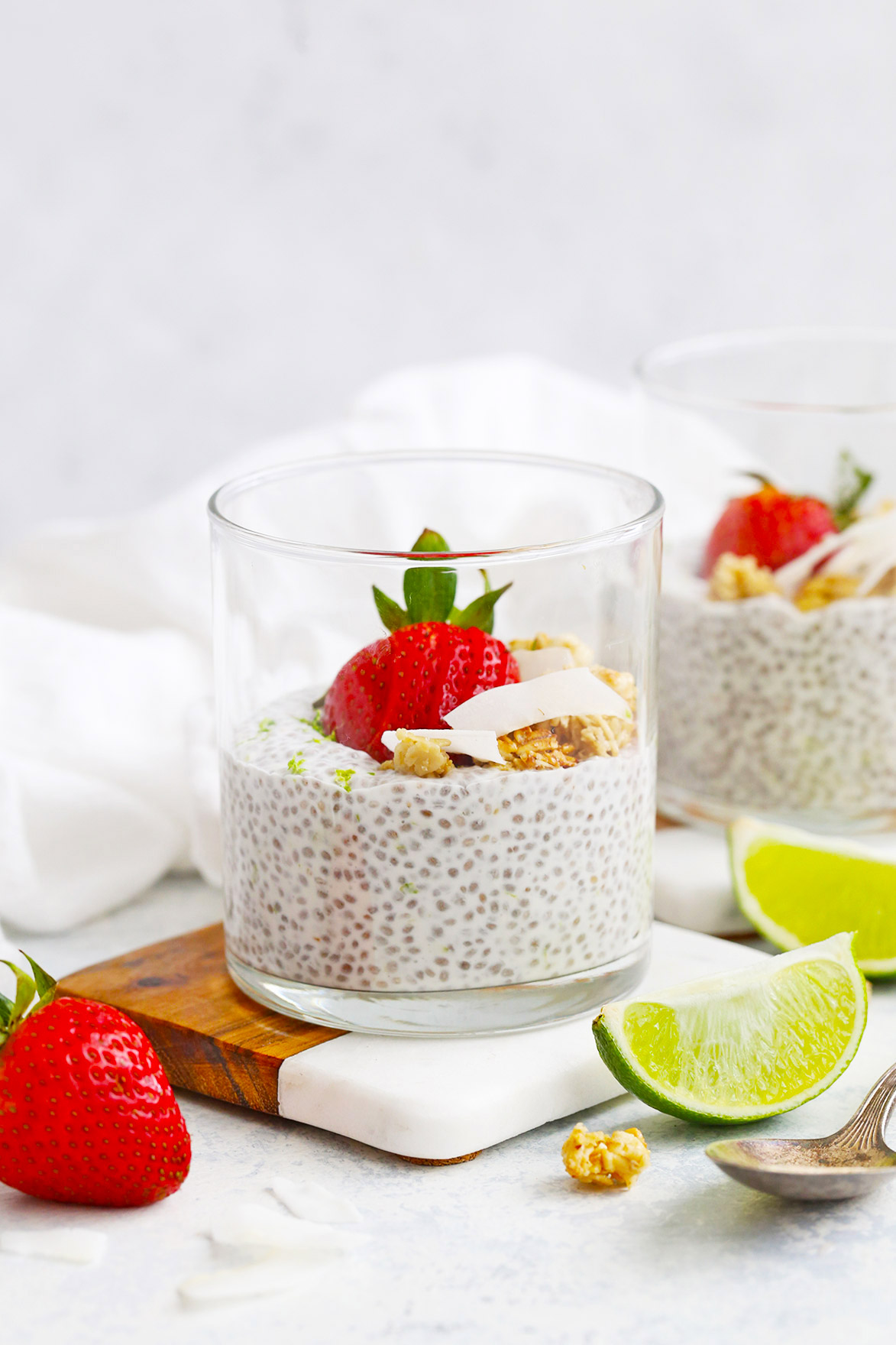 Coconut Lime Chia Pudding from One Lovely Life