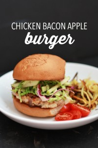 Chicken Bacon Apple Burgers