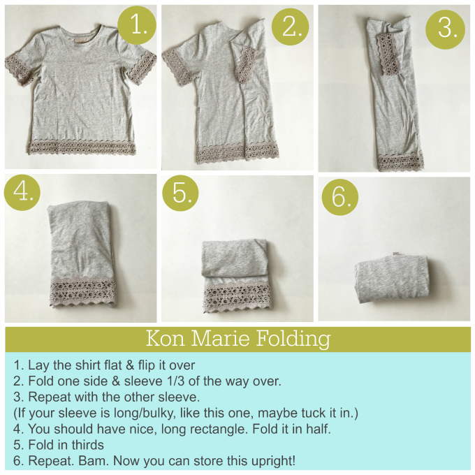 How to Fold the Kon Marie Way >> from www.onelovelylife.com
