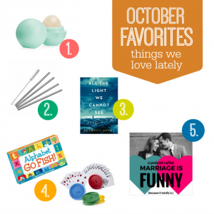 October Faves - A gorgeous lip balm, the funniest podcast, a book you can't put down, and more! from www.onelovelylife.com