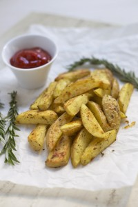 Crispy Herb Roasted Potatoes. These are easy enough for a weekday but nice enough for a fancy dinner. We love them!
