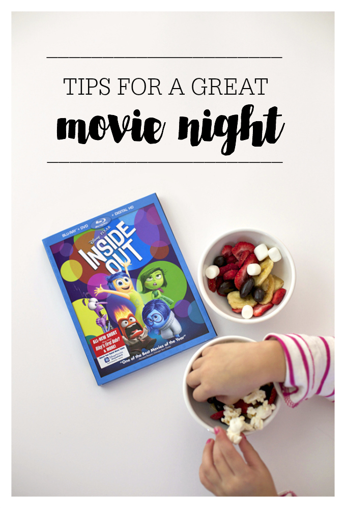 Tips for a GREAT Family Movie Night. Lots of great ideas in this one. from www.onelovelylife.com