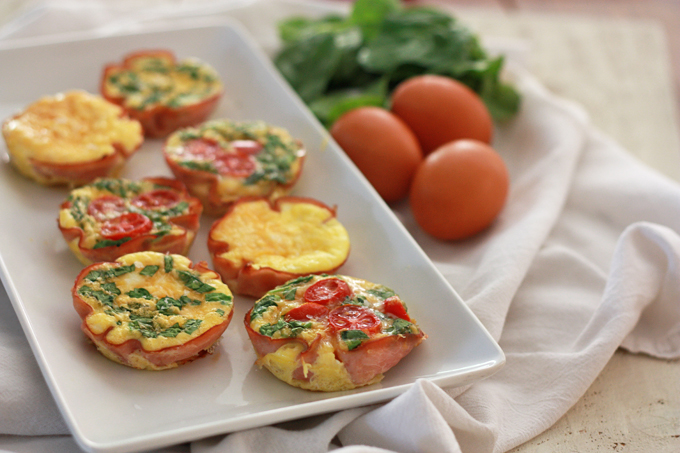 Simple Paleo Mini Quiche - add your favorite combination of veggies.