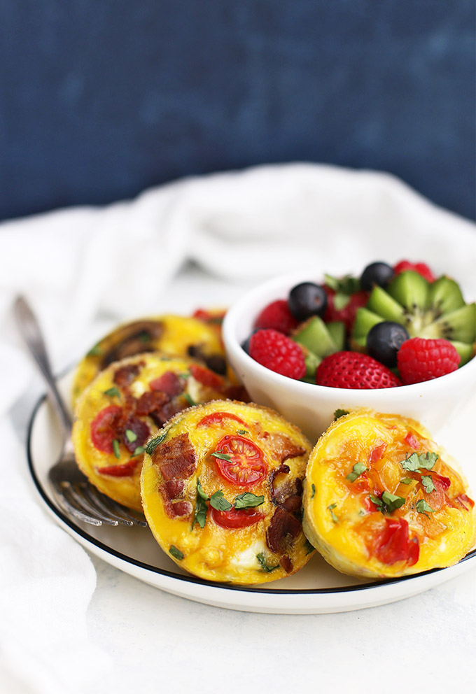 (Whole30 approved!) Paleo Mini Quiche - The perfect meal prep breakfast or lunch on the go.
