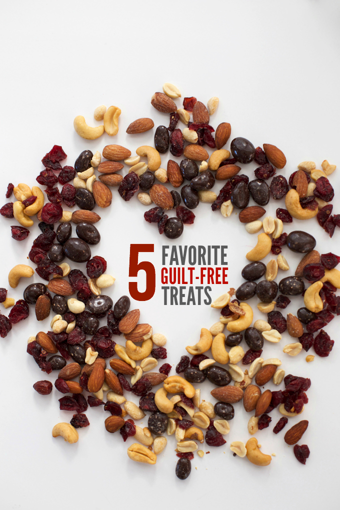 "5 Favorite Guilt Free Treats - Great ways to ""treat yo'self"" without throwing your goals out the window."