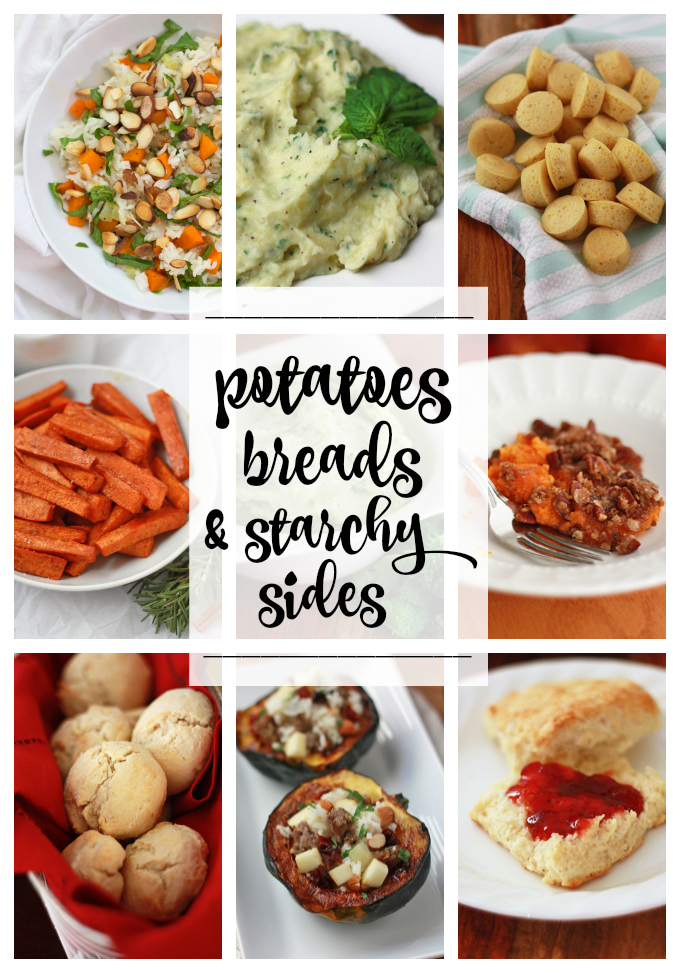 Potatoes, Breads & Starchy Sides - Including some gluten free & vegan options!