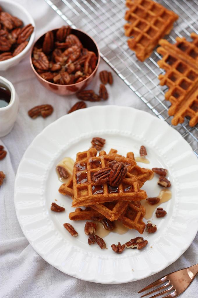 Gluten Free Sweet Potato Waffles. These taste amazing!