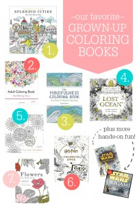 Our FAVORITE Grown-Up Coloring Books. Stress relievers, story builders, and just for fun.