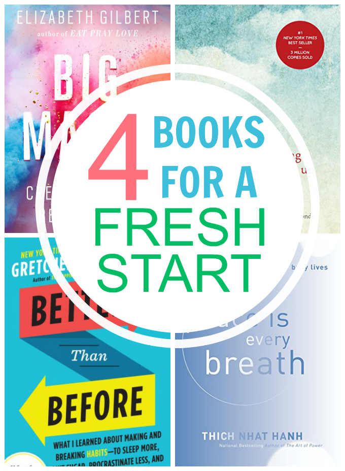 4 of my FAVORITE books for becoming the person you want to be. From ways to tap into you creativity to simplifying your home, these ideas are sure to get you started.