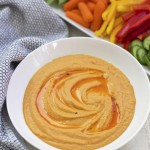 Roasted Red Pepper Hummus - This is yummy with veggies, crackers, or pitas. GF & Vegan