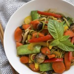 This gorgeous, healthy stir fry can be made in minutes and uses up any veggies in your fridge. We love it!