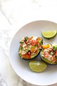 BLT Chicken Salad Avocado Cups