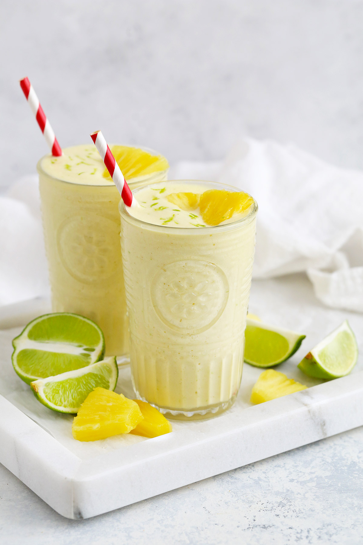 Paleo or Vegan Pineapple Coconut Lime Smoothie from One Lovely Life