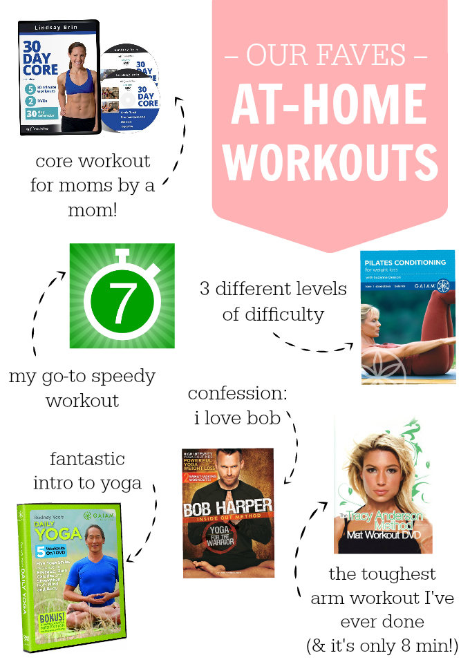Some of THE BEST at-home workouts! Now you can always get a good workout in, no matter how tight your time or how small your budget is.