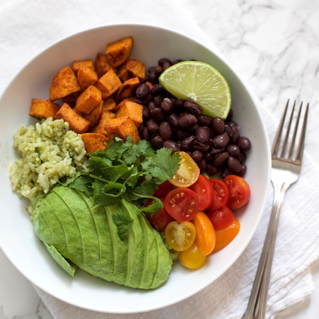 These Chipotle Sweet Potato Bowls are bursting with color and flavor. Add your favorite toppings to make them your own!