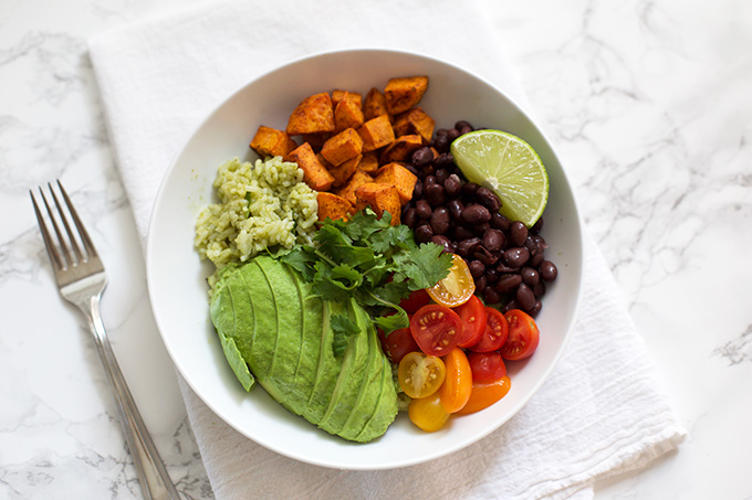 Eat the rainbow with these Chipotle Sweet Potato Bowls. (Gluten free & vegan)