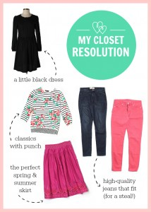 My closet resolution
