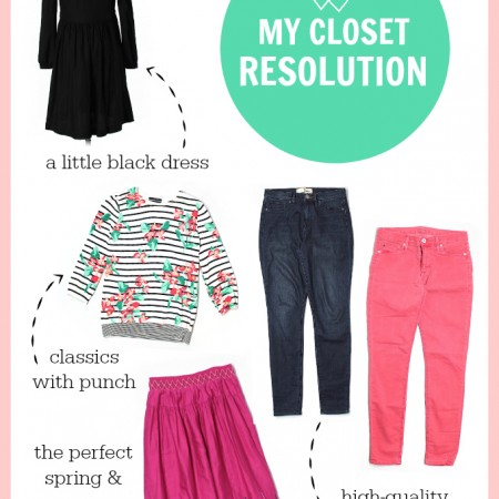 My closet resolution for the year.