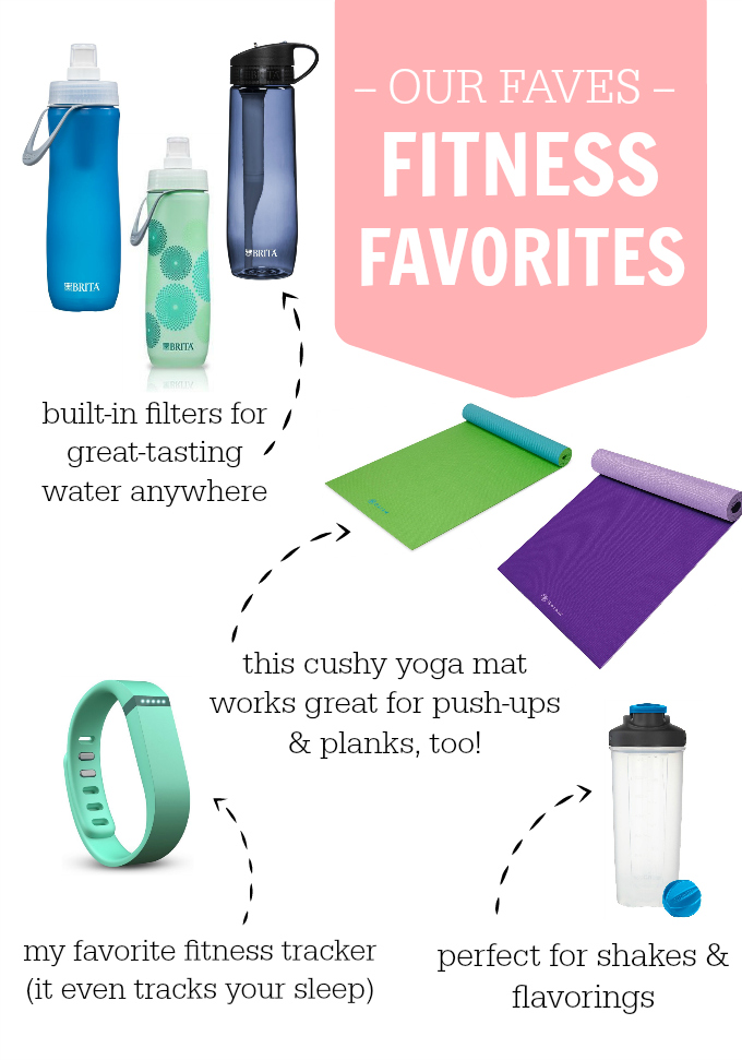Fitness Faves to kick-start your workout routine. A cushy yoga mat, my favorite fitness tracker, and more!