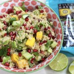 This Mango Avocado Quinoa Salad has a spring-roll vibe. It's loaded with color and flavor and makes a great lunch for the week!