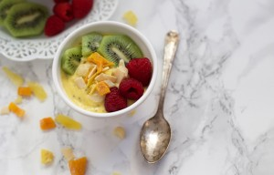Mango Chia Bowls with Tropical Crunch Topping