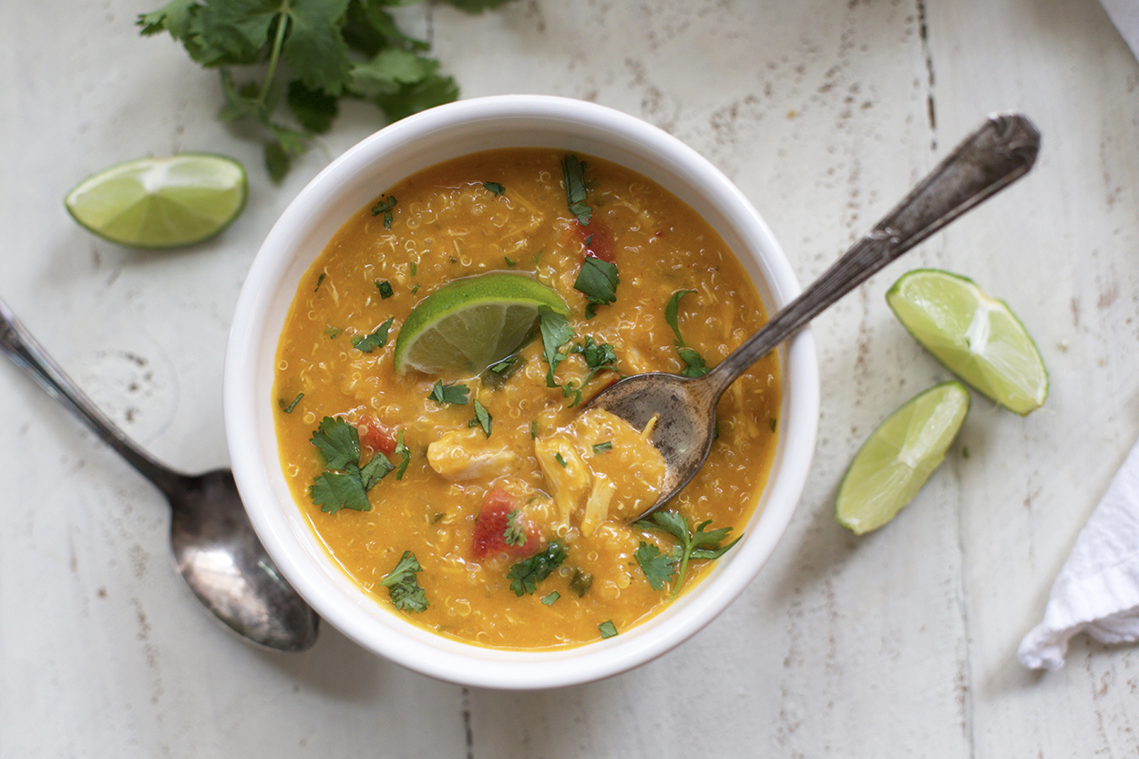 Slow Cooker Thai Chicken and Butternut Soup - One Lovely Life