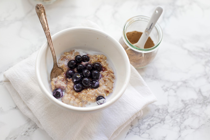 ... Chai Spiced Oatmeal. Loaded with goodies - it tastes like a cookie