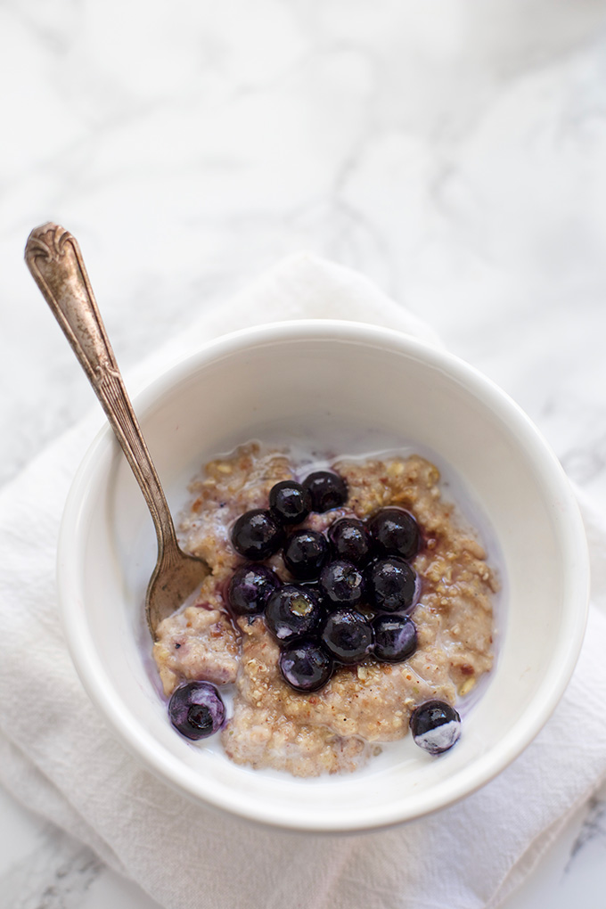 Tuck into a bowl of warm Chai Spiced Oatmeal. Tastes like dessert and makes the house smell amazing!