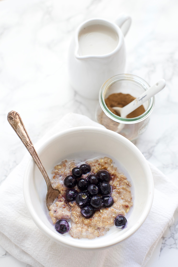 Chai Spiced Oatmeal. Loaded with natural protein and tastes like a cookie. This is a better breakfast.