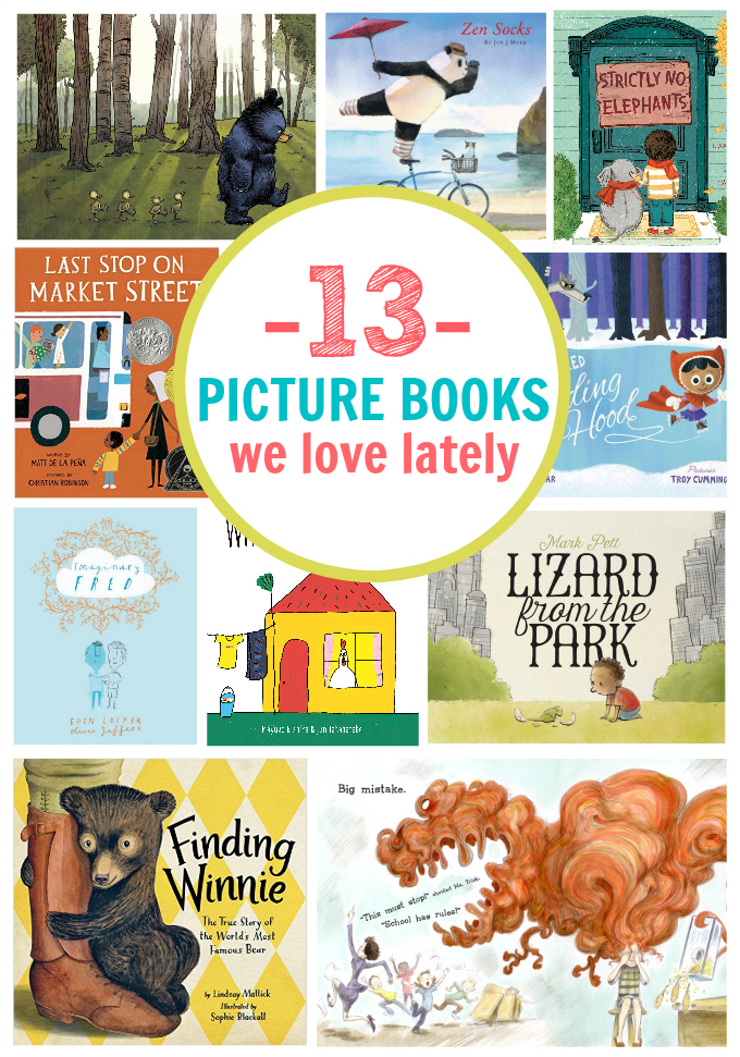13 Picture Books We're Loving Lately. Funny, charming, and fabulous illustrations a must!