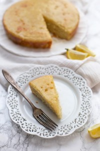 Two thumbs up for this Gluten Free Lemon Cake. Bright, sunny, and delicious.