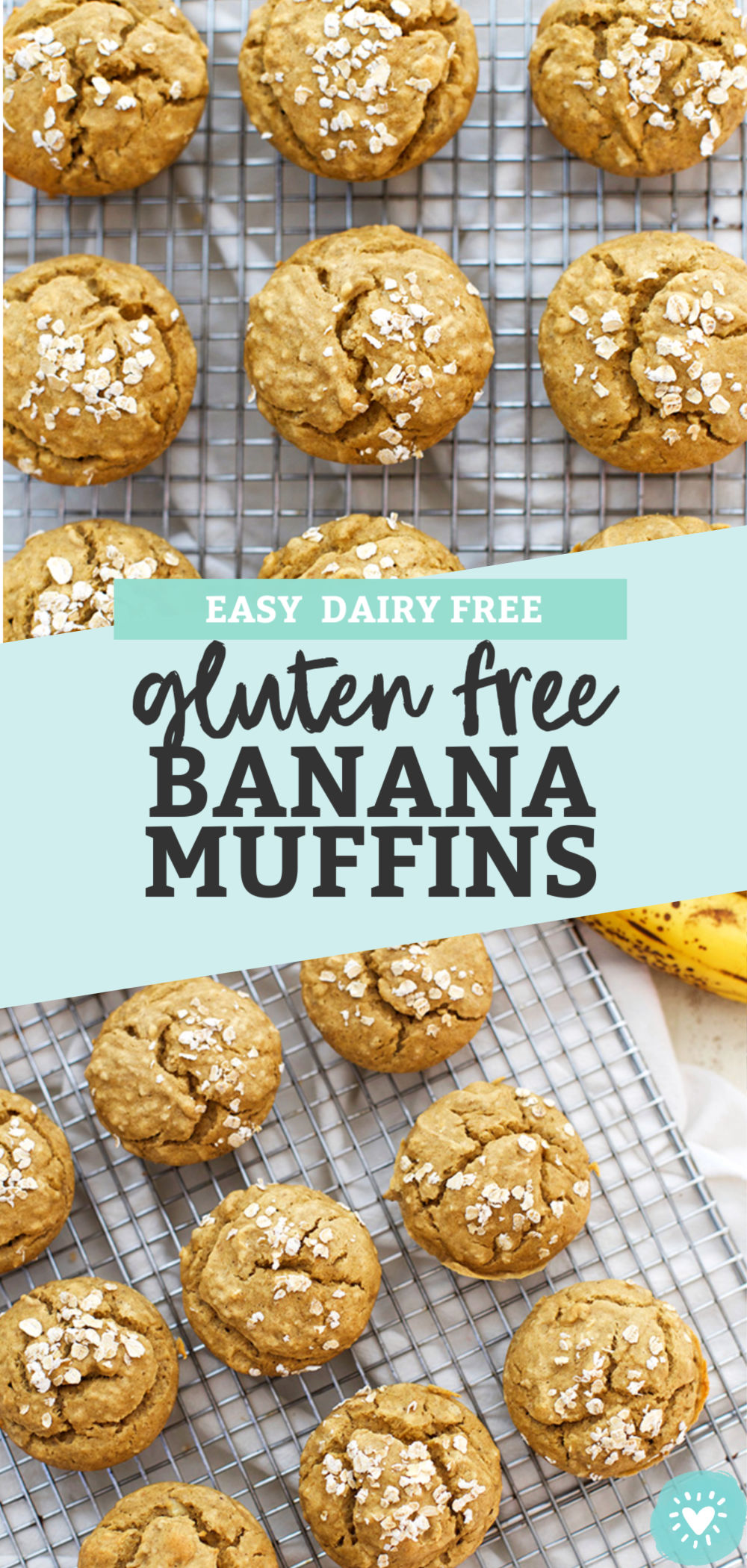 Gluten Free Banana Muffins from One Lovely Life