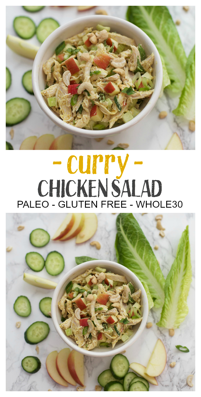 This easy Curry Chicken Salad makes a perfect lunch or quick dinner. Paleo & Whole30 Approved!