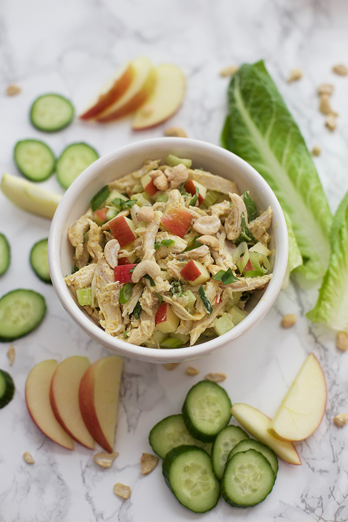 Put a spin on the classic with this Curry Chicken Salad. Gluten Free, Paleo, and Whole30-approved!