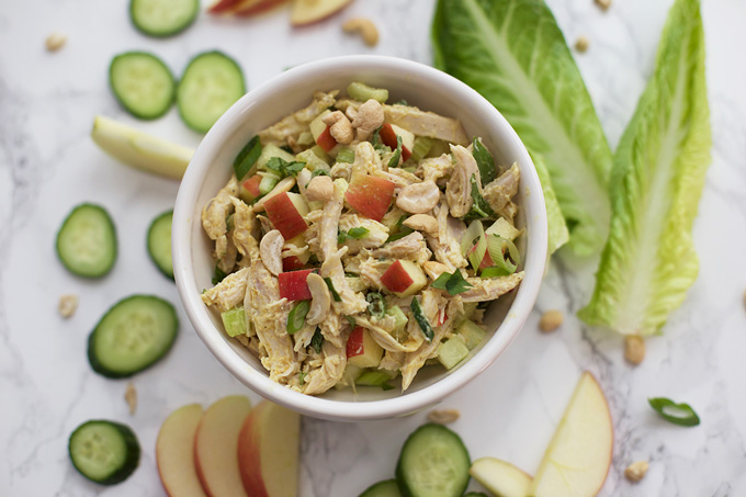 We love this fresh and flavorful Curry Chicken Salad. (Paleo, Whole30, and Gluten Free)