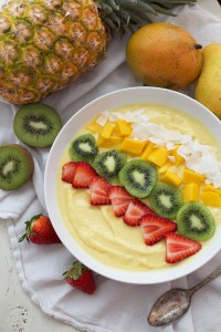 Eat the rainbow when you enjoy these Mango Julius Smoothie Bowls