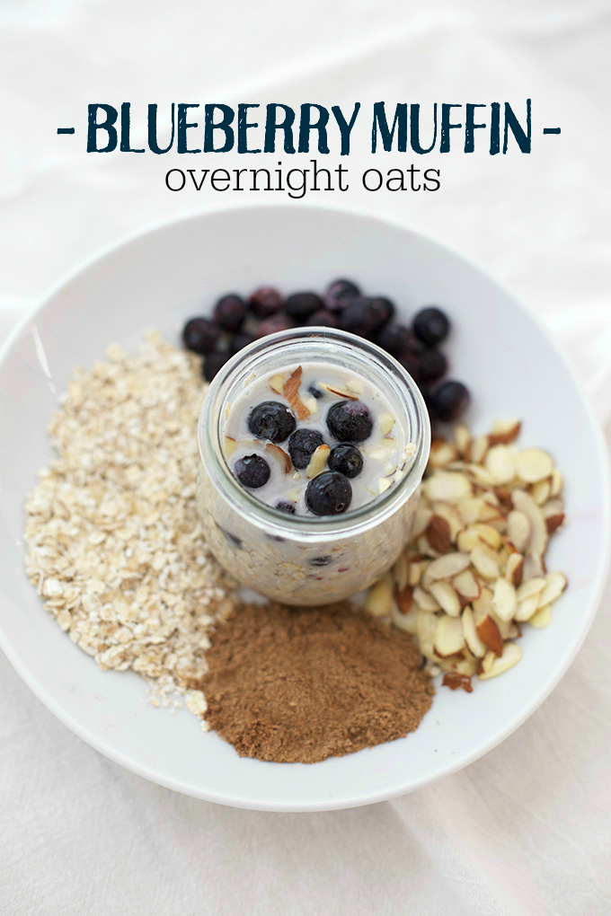 Blueberry Muffin Overnight Oats (AND 6 other delicious ways to enjoy them!)