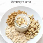 Honey Nut Overnight Oats are a quick, easy, HEALTHY breakfast. I