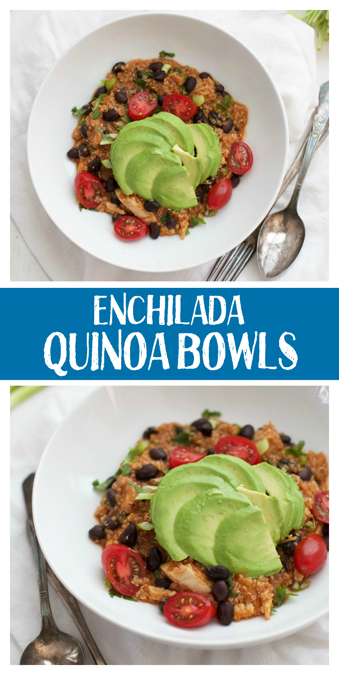 These speedy enchilada quinoa bowls are such a yummy dinner.