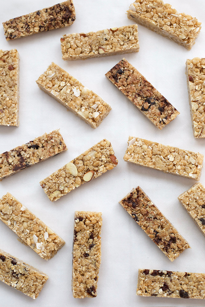 These chewy, soft granola bars are the perfect afternoon snack or lunch box treat. So good, so easy, and so many variations!