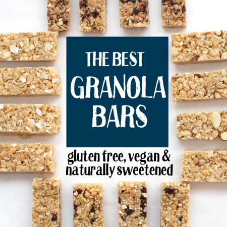 It's no joke, these are the BEST homemade granola bars. Soft, chewy, and so easy. (Plus, they're gluten free & naturally sweetened)