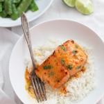 Sweet and Spicy Thai Chili and Lime Salmon is such an easy, quick dinner. We can't get enough!