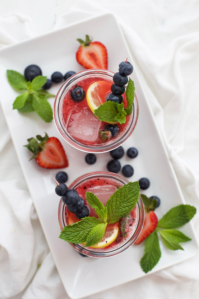 As delicious as it is beautiful, this Honey Sweetened Berry Lemonade is our fave!