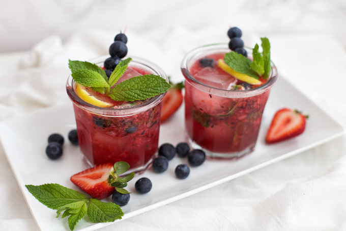 Naturally sweetened berry lemonade. You'll want seconds.