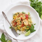 Shrimp Curry in a Creamy Coconut Sauce. This is delicious, easy, and just plain luscious!
