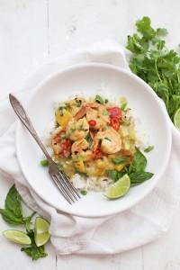 Shrimp Curry in Creamy Coconut Sauce