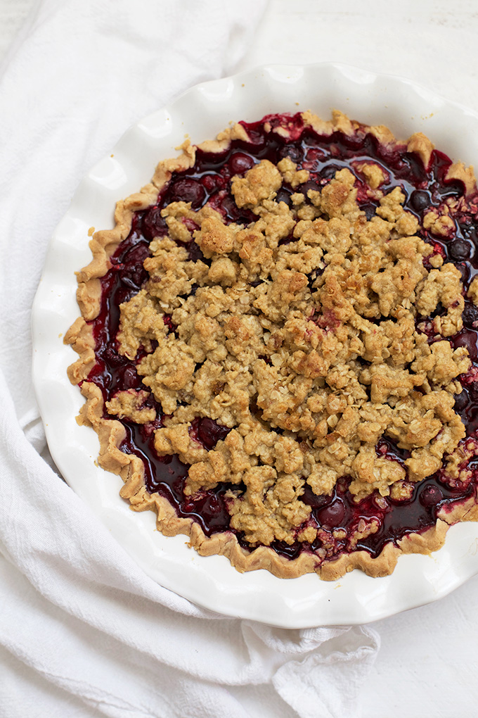 There's nothing like a good Berry Pie with Crumble Topping . This one's made with frozen fruit, so you can make it all year long!